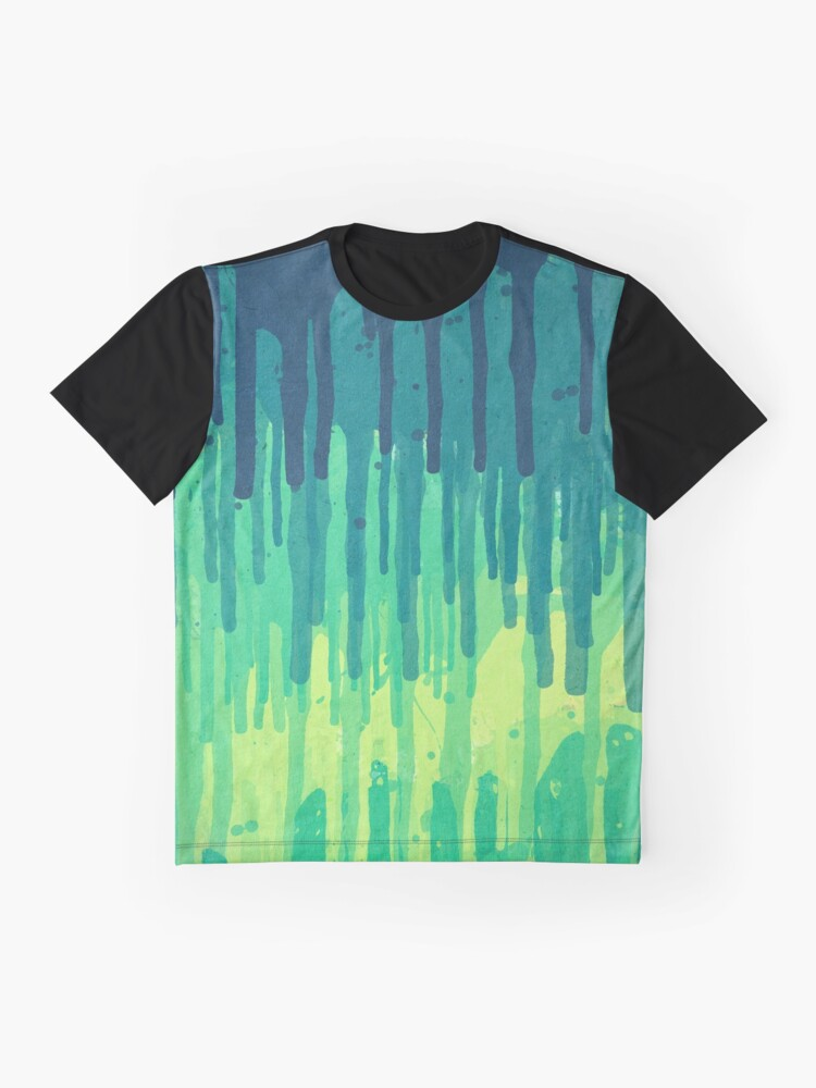 Alternative Ansicht von Green Grunge Color Splatter Graffiti Backstreet Wall Background  Grafik T-Shirt