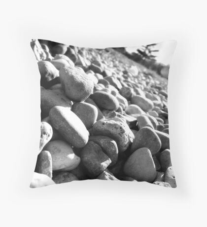 Stones Black&White Throw Pillow