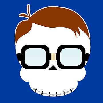 Nerd Skull - T-shirt by GeeklyShirts