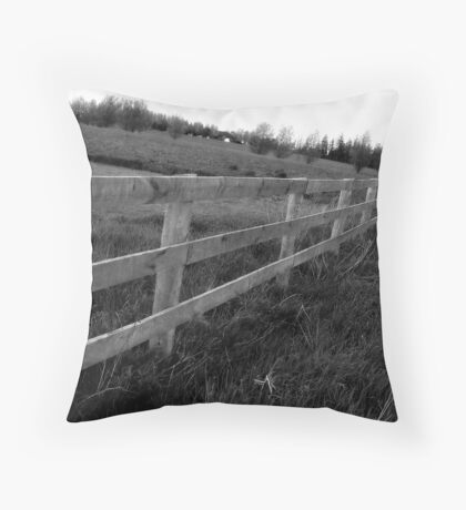 Fence Black&White Throw Pillow