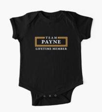 Team Payne Lifetime Member Surname Shirt One Piece - Short Sleeve