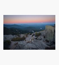 Moonrise in the White Mountains, New Hampshire. Photographic Print