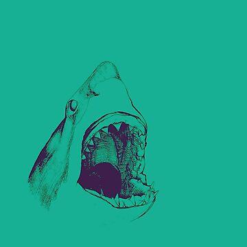 Shark (green) by JohnnyIronic