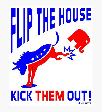Flip The House Kick GOP Out Photographic Print