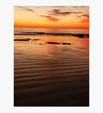 blood red sun Photographic Print