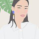 Minimal Girl, fashion illustration by uzualsunday