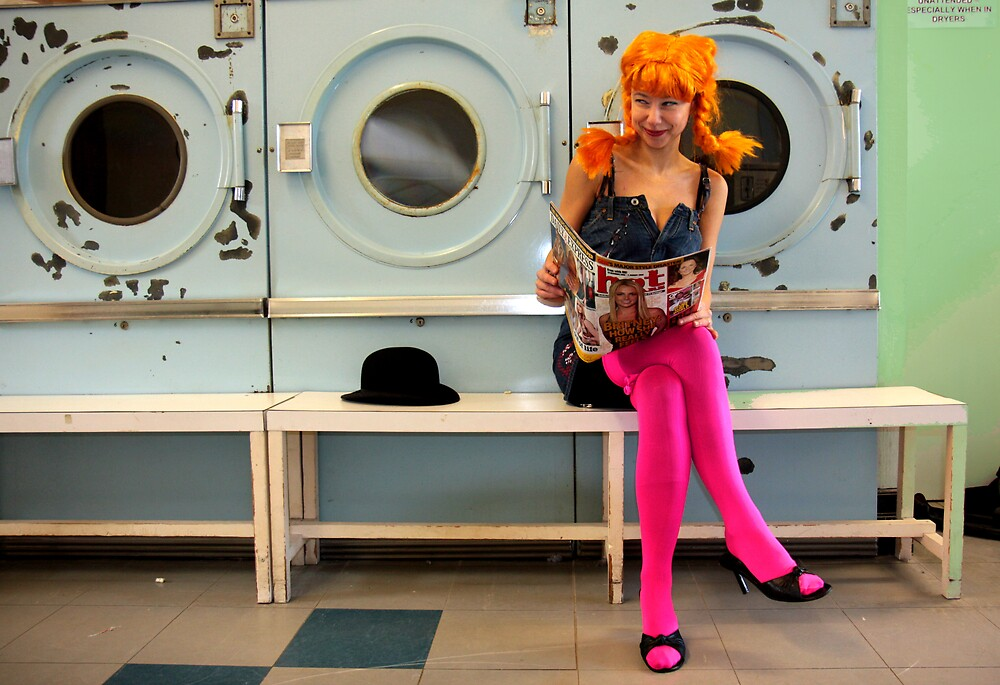 Helen at the Laundrette by fasteddie42