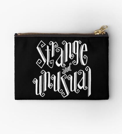 Strange and Unusual Typography Zipper Pouch