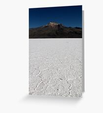 Salt Lake Volcano Greeting Card