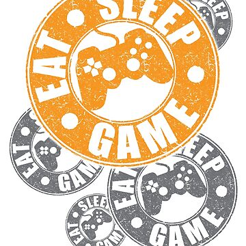 Gamer tshirt - eat sleep game tshirt with a difference by GameOnGifts