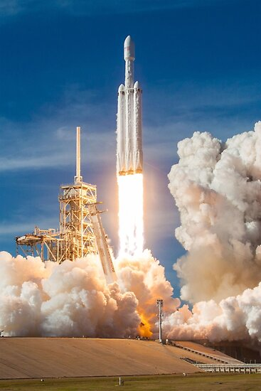 Spacex Falcon Heavy Demo starten Lift Off von Boy-With-Hat