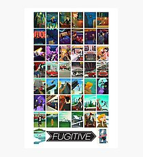The Chase!  Official Art from The game Fugitive by Fowers Games Photographic Print