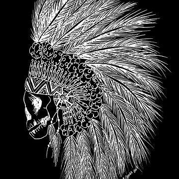 Emma Jones Art - Chief of the Dead - Boho Chief Illustration (White) by emmajonesart