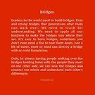 Bridges - poem by Sofie Sandell  by sofiesandell