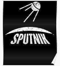 Sputnik | Sowjetisches UDSSR Russisches Raumfahrtprogramm Poster