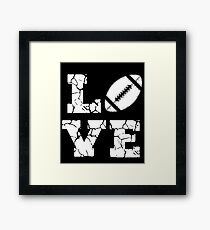 Football Love Framed Print