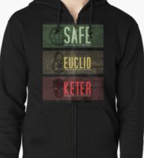 SCP - Threat Levels Zipped Hoodie