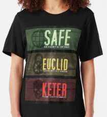 SCP - Threat Levels Slim Fit T-Shirt