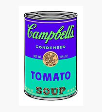 Andy Warhol Campbells soup can print sticker Photographic Print