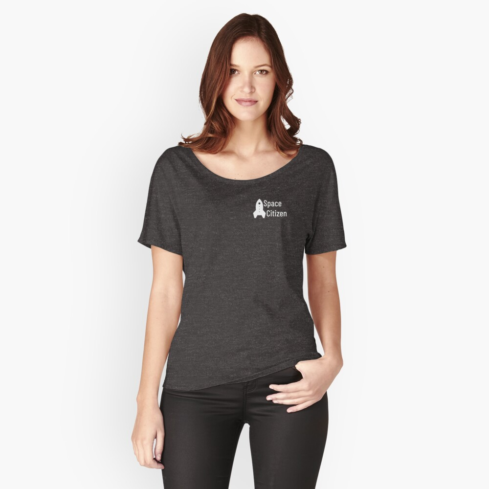 Space Citizen White Women's Relaxed Fit T-Shirt Front