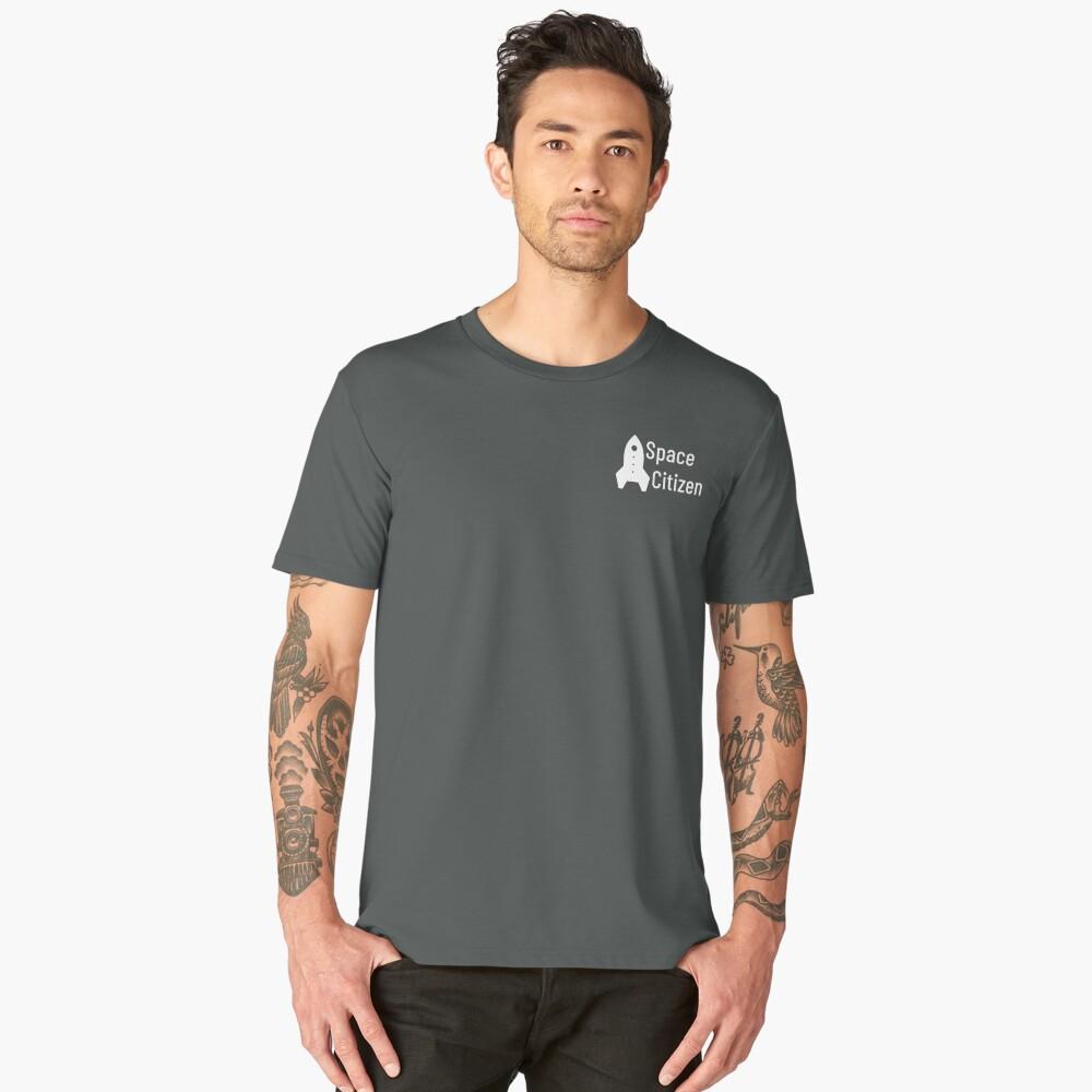 Space Citizen White Men's Premium T-Shirt Front