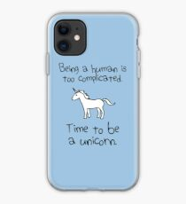 Time To Be A Unicorn iPhone Case