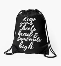 Coco Chanel Quote Drawstring Bag