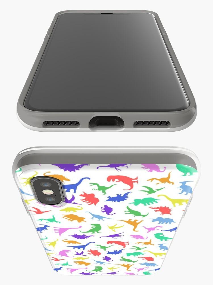 Alternative Ansicht von Spaß-Dinosaurier-Muster iPhone-Hülle & Cover