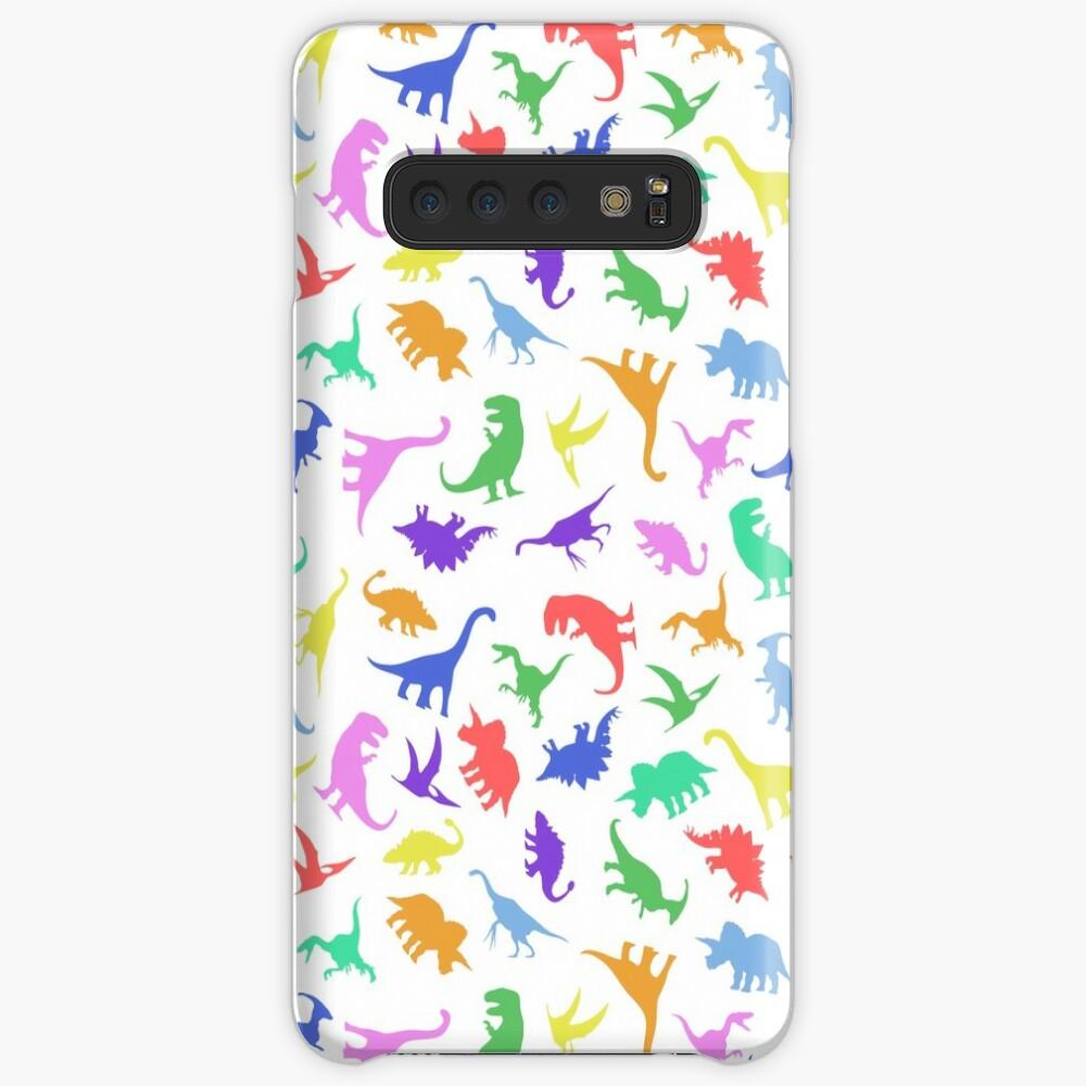 Spaß-Dinosaurier-Muster Hülle & Klebefolie für Samsung Galaxy