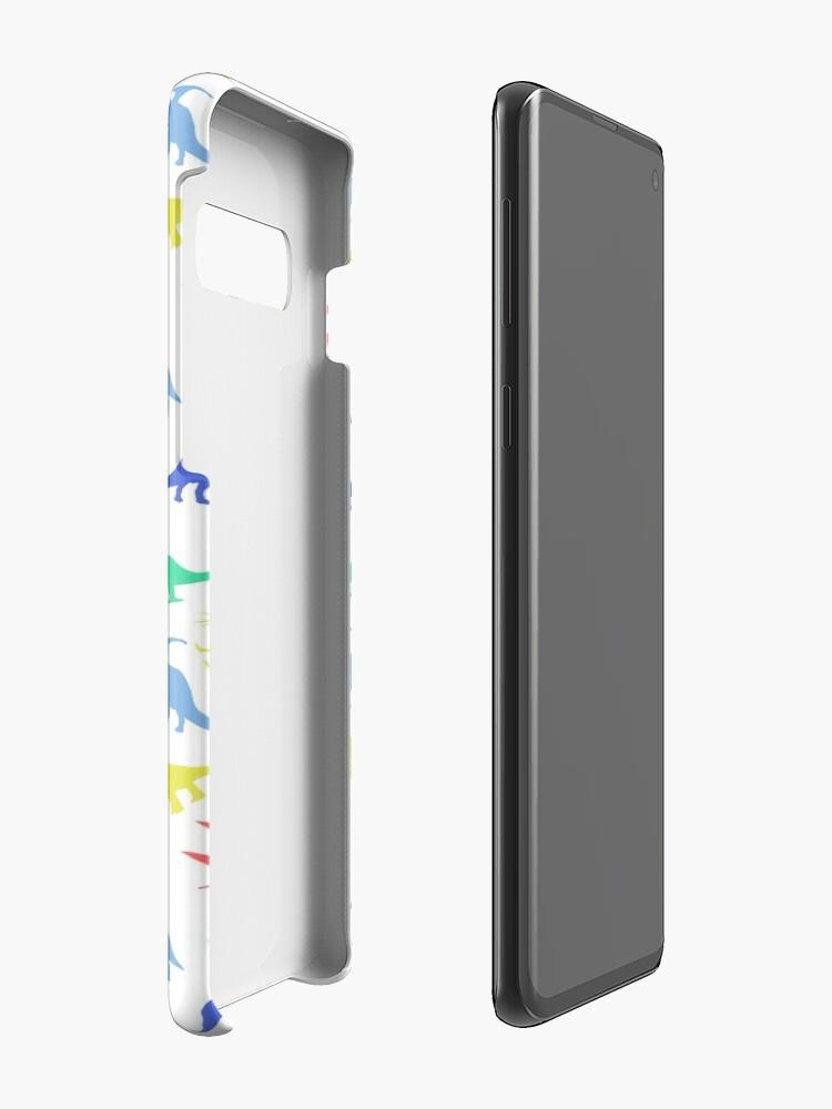 Alternative Ansicht von Spaß-Dinosaurier-Muster Hülle & Klebefolie für Samsung Galaxy