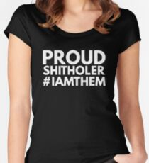 proud shitholer Women's Fitted Scoop T-Shirt