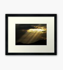 Sunburst - Saratoga Springs, Utah Framed Print