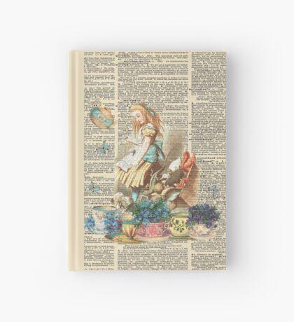 Vintage Alicia en el país de las maravillas en una página de diccionario Cuaderno de tapa dura