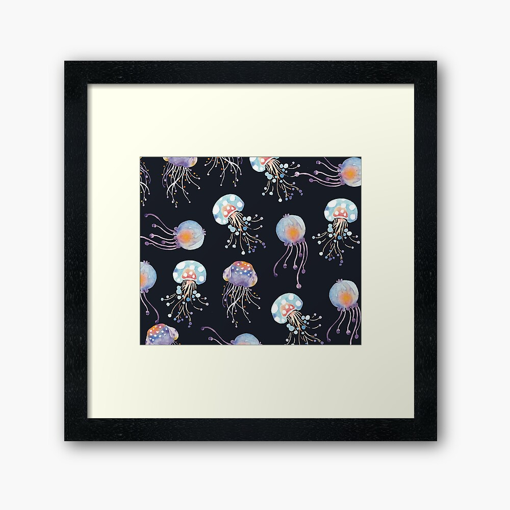 Patters Everyday   What's in the deep sea Framed Art Print
