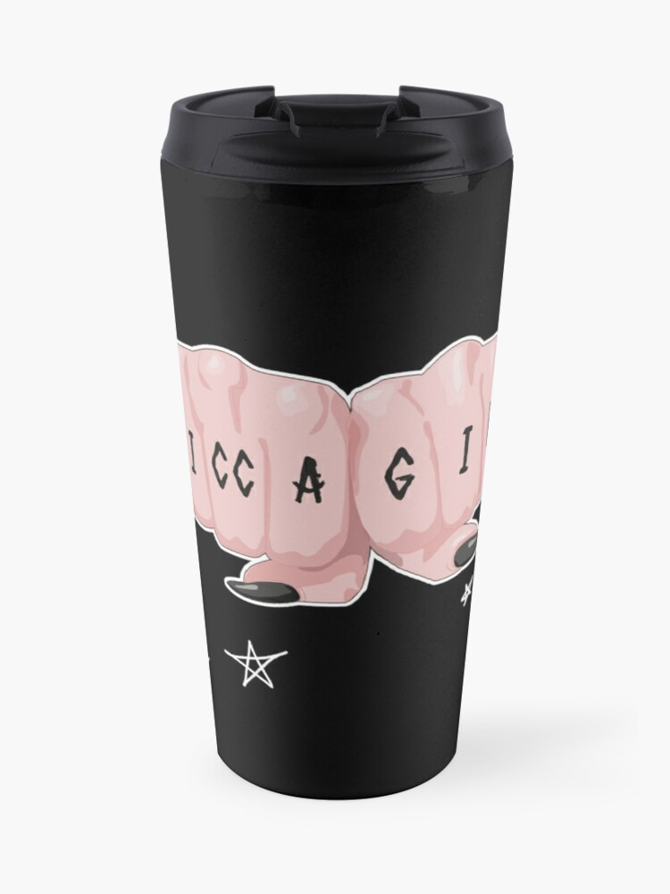 Wicca Coven Girl Gang Fists Knuckle Rune Symbols Tattoo | Travel Mug