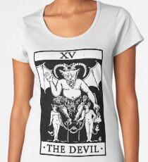 VINTAGE TAROT CARD T SHIRT, THE DEVIL CARD, OCCULT, TAROT Women's Premium T-Shirt