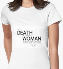 death of a beautiful woman - edgar allan poe Women's Fitted T-Shirt