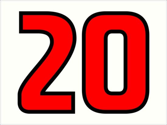 Láminas Artísticas «Rojo, Esquema Negro Número 20» De