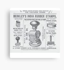 India rubber stamps Canvas Print