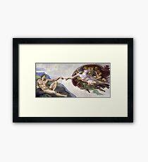The Creation of Adam - Michelangelo  Framed Print