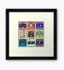 Game Controllers - Nintendo and Sony Framed Print