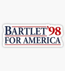 Bartlet For America - Cool The West Wing Parody Sticker Sticker