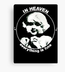 In heaven (Circle) Canvas Print