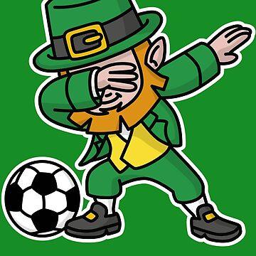 Dab dabbing leprechaun St. Patrick's day football by LaundryFactory