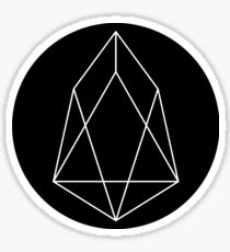 EOS block.one Crypto Currency Icon Sticker