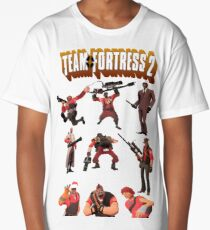 Team Fortress 2 - All Characters / Classes with TF2 Logo Long T-Shirt
