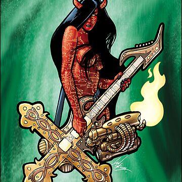 Flamethrower Guitar 004 - censored by IanSokoliwski