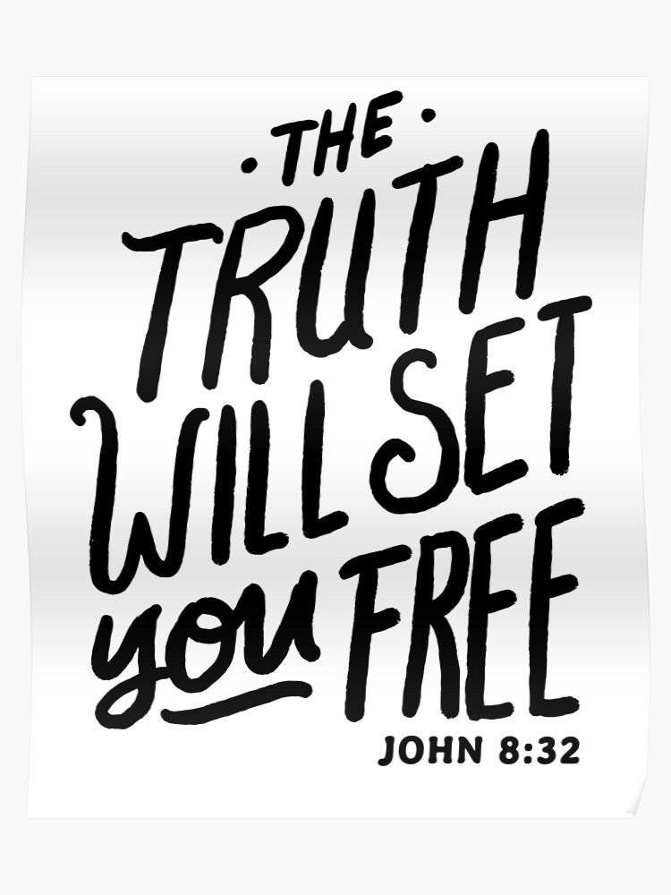 The Truth Will Set You Free Bible Verse Christian | Poster