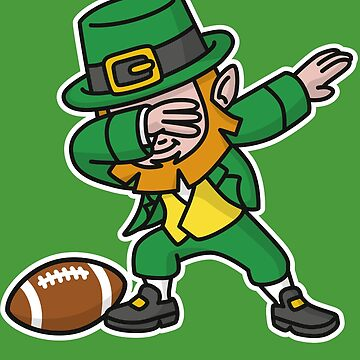Dab dabbing leprechaun St. Patrick's day rugby by LaundryFactory
