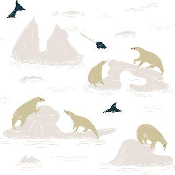 Go North Polar Bears by BowerbirdHouse